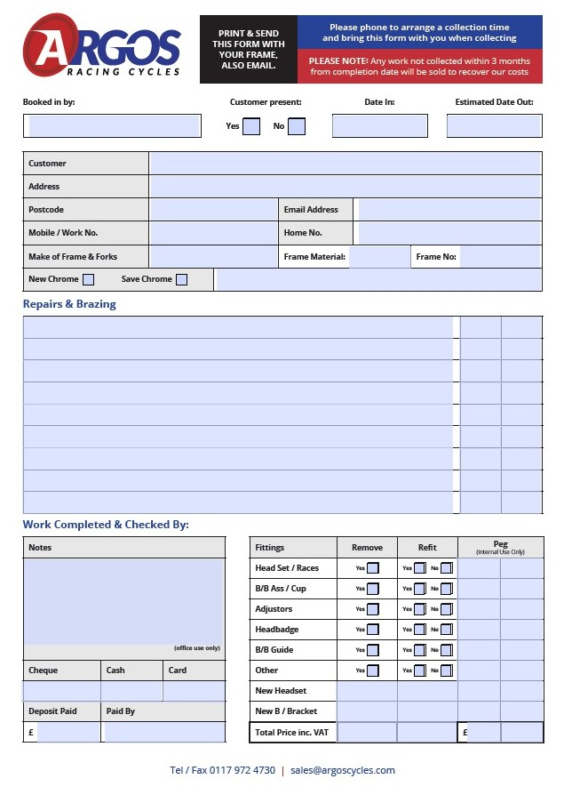 Worksheet front